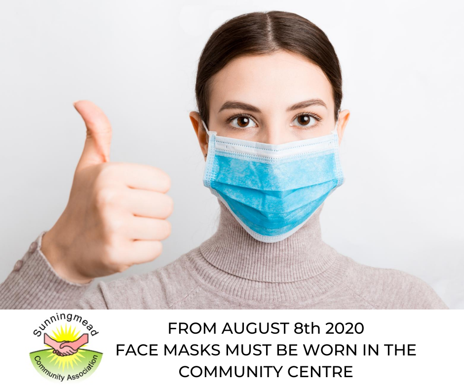 face masks must be worn from 8th August 2020